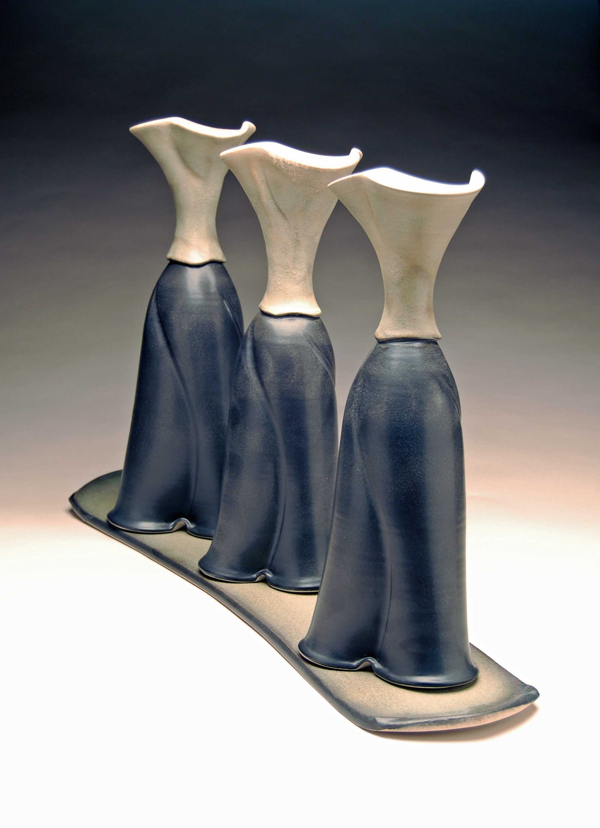 conner burns - three sisters vase set