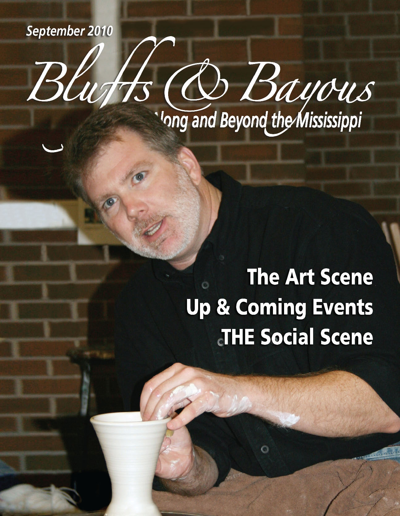 conner burns on cover of bluffs and bayous