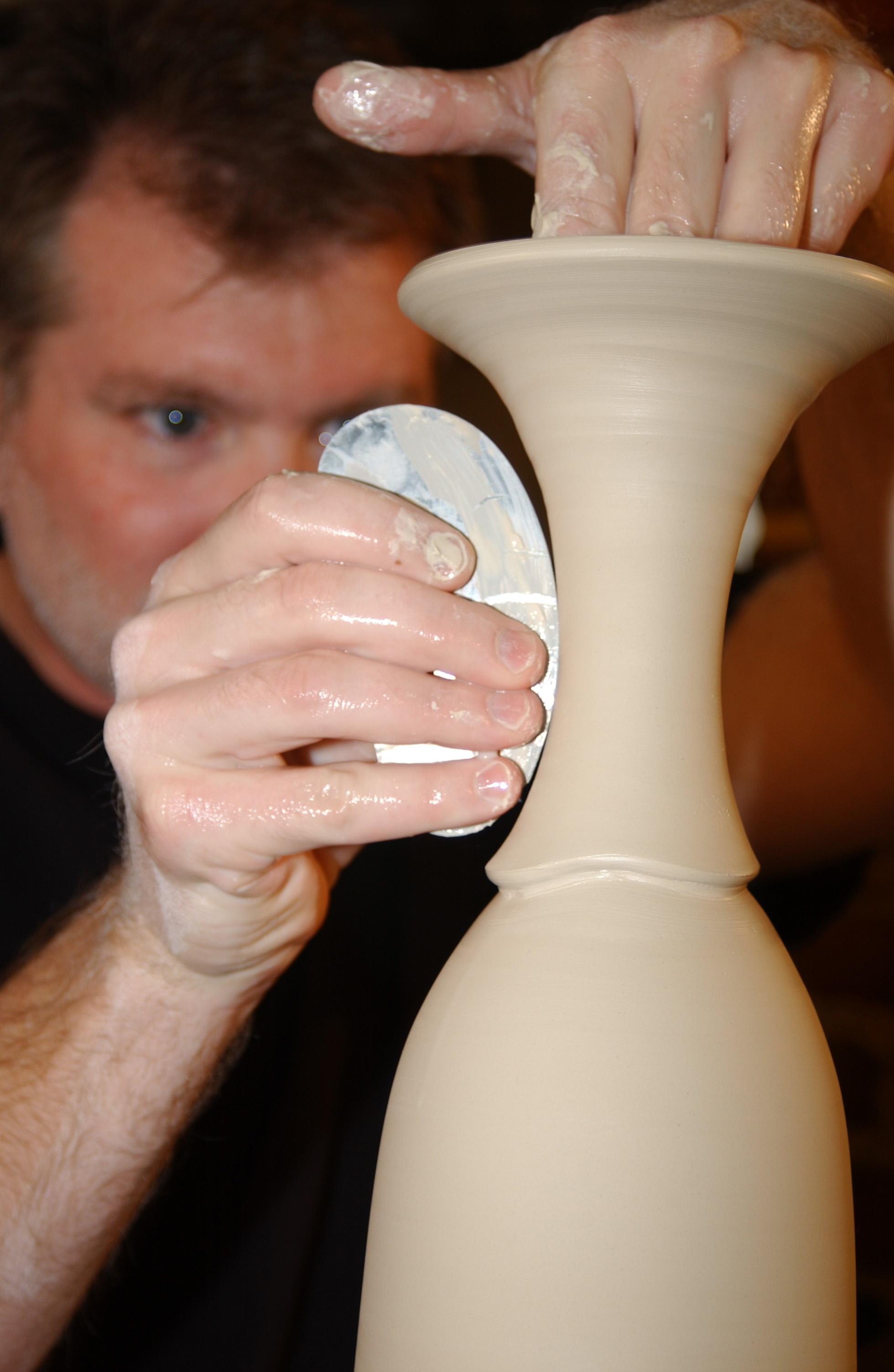 "conner burns - refining a vase"" style="